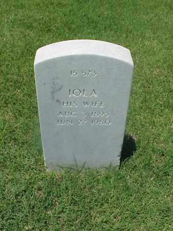 THOMPSON, IOLA - Pulaski County, Arkansas | IOLA THOMPSON - Arkansas Gravestone Photos