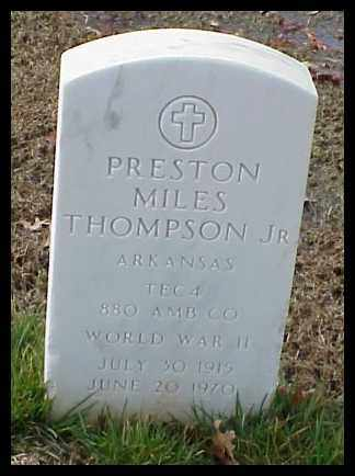 THOMPSON, JR (VETERAN WWII), PRESTON MILES - Pulaski County, Arkansas | PRESTON MILES THOMPSON, JR (VETERAN WWII) - Arkansas Gravestone Photos