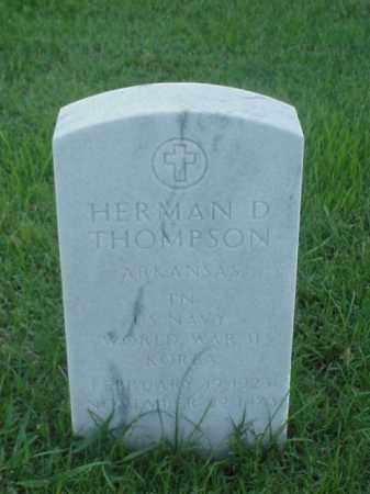 THOMPSON (VETERAN 2 WARS), HERMAN D - Pulaski County, Arkansas | HERMAN D THOMPSON (VETERAN 2 WARS) - Arkansas Gravestone Photos