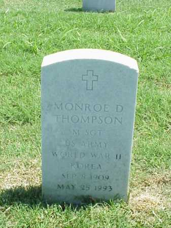 THOMPSON (VETERAN 2 WARS), MONROE D - Pulaski County, Arkansas | MONROE D THOMPSON (VETERAN 2 WARS) - Arkansas Gravestone Photos