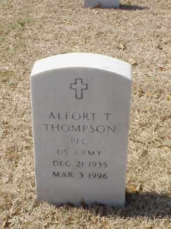 THOMPSON (VETERAN), ALFORT T - Pulaski County, Arkansas | ALFORT T THOMPSON (VETERAN) - Arkansas Gravestone Photos