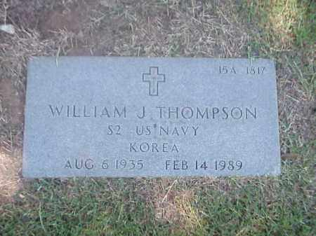 THOMPSON (VETERAN KOR), WILLIAM J - Pulaski County, Arkansas | WILLIAM J THOMPSON (VETERAN KOR) - Arkansas Gravestone Photos