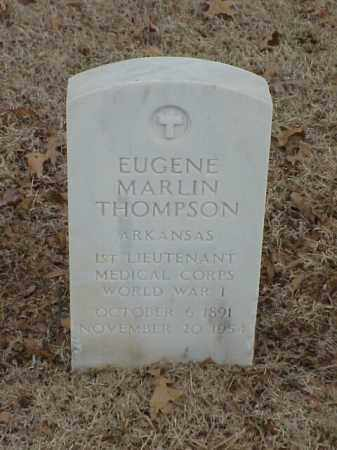 THOMPSON (VETERAN WWI), EUGENE MARLIN - Pulaski County, Arkansas | EUGENE MARLIN THOMPSON (VETERAN WWI) - Arkansas Gravestone Photos