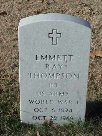 THOMPSON (VETERAN WWI), EMMETT RAY - Pulaski County, Arkansas | EMMETT RAY THOMPSON (VETERAN WWI) - Arkansas Gravestone Photos