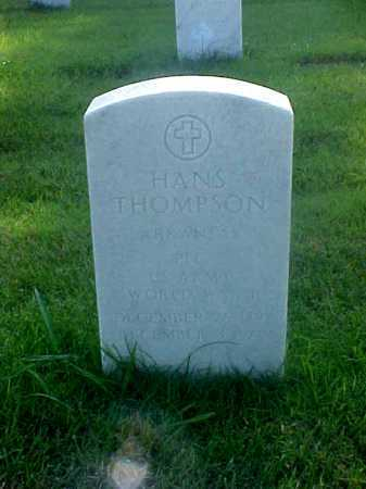 THOMPSON (VETERAN WWI), HANS - Pulaski County, Arkansas | HANS THOMPSON (VETERAN WWI) - Arkansas Gravestone Photos
