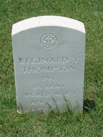 THOMPSON (VETERAN WWI), REGINALD Y - Pulaski County, Arkansas | REGINALD Y THOMPSON (VETERAN WWI) - Arkansas Gravestone Photos