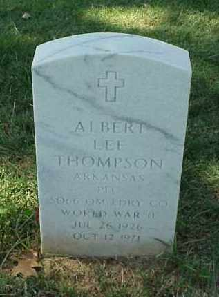THOMPSON (VETERAN WWII), ALBERT LEE - Pulaski County, Arkansas | ALBERT LEE THOMPSON (VETERAN WWII) - Arkansas Gravestone Photos