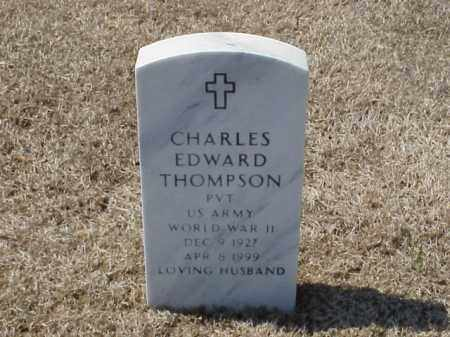 THOMPSON (VETERAN WWII), CHARLES EDWARD - Pulaski County, Arkansas | CHARLES EDWARD THOMPSON (VETERAN WWII) - Arkansas Gravestone Photos