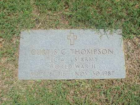 THOMPSON (VETERAN WWII), CURTIS C - Pulaski County, Arkansas | CURTIS C THOMPSON (VETERAN WWII) - Arkansas Gravestone Photos