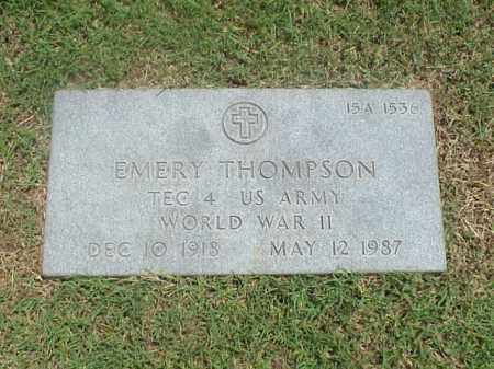THOMPSON (VETERAN WWII), EMERY - Pulaski County, Arkansas | EMERY THOMPSON (VETERAN WWII) - Arkansas Gravestone Photos