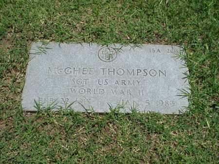 THOMPSON (VETERAN WWII), MCGHEE - Pulaski County, Arkansas | MCGHEE THOMPSON (VETERAN WWII) - Arkansas Gravestone Photos