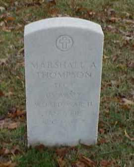 THOMPSON (VETERAN WWII), MARSHALL A - Pulaski County, Arkansas | MARSHALL A THOMPSON (VETERAN WWII) - Arkansas Gravestone Photos