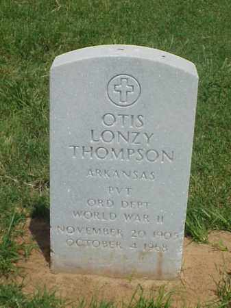 THOMPSON (VETERAN WWII), OTIS LONZY - Pulaski County, Arkansas | OTIS LONZY THOMPSON (VETERAN WWII) - Arkansas Gravestone Photos