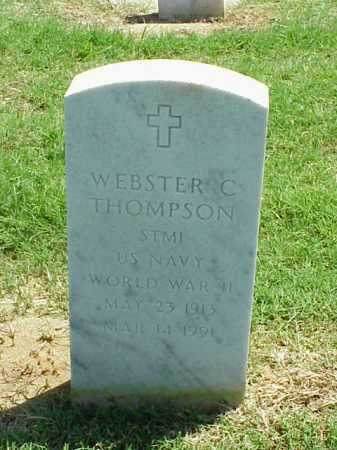 THOMPSON (VETERAN WWII), WEBSTER C - Pulaski County, Arkansas | WEBSTER C THOMPSON (VETERAN WWII) - Arkansas Gravestone Photos