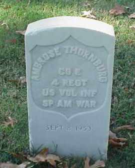 THORNBURG (VETERAN SAW), AMBROSE - Pulaski County, Arkansas | AMBROSE THORNBURG (VETERAN SAW) - Arkansas Gravestone Photos