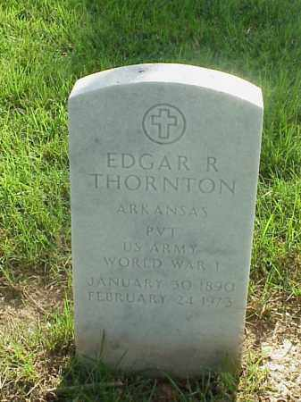 THORNTON (VETERAN WWI), EDGAR R - Pulaski County, Arkansas | EDGAR R THORNTON (VETERAN WWI) - Arkansas Gravestone Photos