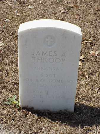 THROOP (VETERAN WWII), JAMES A - Pulaski County, Arkansas | JAMES A THROOP (VETERAN WWII) - Arkansas Gravestone Photos