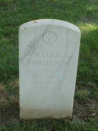 THRUSTON (VETERAN WWI), WILLIAM G - Pulaski County, Arkansas | WILLIAM G THRUSTON (VETERAN WWI) - Arkansas Gravestone Photos