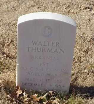 THURMAN (VETERAN WWI), WALTER - Pulaski County, Arkansas | WALTER THURMAN (VETERAN WWI) - Arkansas Gravestone Photos