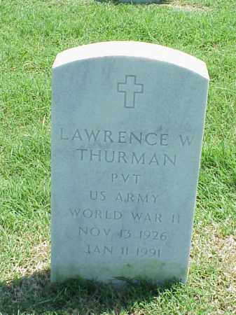 THURMAN (VETERAN WWII), LAWRENCE W - Pulaski County, Arkansas | LAWRENCE W THURMAN (VETERAN WWII) - Arkansas Gravestone Photos