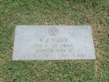 TICEY (VETERAN WWII), R J - Pulaski County, Arkansas | R J TICEY (VETERAN WWII) - Arkansas Gravestone Photos