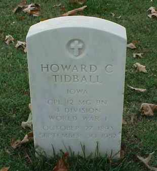 TIDBALL (VETERAN WWI), HOWARD C - Pulaski County, Arkansas | HOWARD C TIDBALL (VETERAN WWI) - Arkansas Gravestone Photos