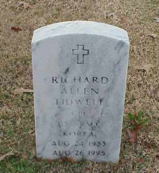 TIDWELL (VETERAN KOR), RICHARD ALLEN - Pulaski County, Arkansas | RICHARD ALLEN TIDWELL (VETERAN KOR) - Arkansas Gravestone Photos