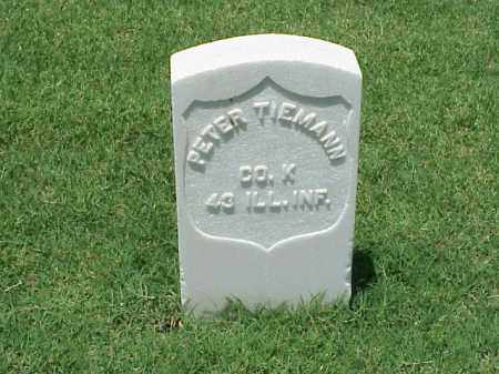 TIEMANN (VETERAN UNION), PETER - Pulaski County, Arkansas | PETER TIEMANN (VETERAN UNION) - Arkansas Gravestone Photos