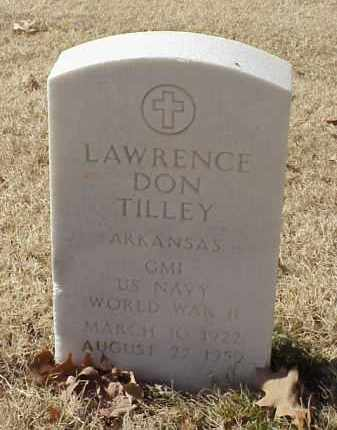 TILLEY (VETERAN WWII), LAWRENCE DON - Pulaski County, Arkansas | LAWRENCE DON TILLEY (VETERAN WWII) - Arkansas Gravestone Photos