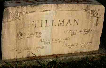 TILLMAN GREGORY, FLORA - Pulaski County, Arkansas | FLORA TILLMAN GREGORY - Arkansas Gravestone Photos