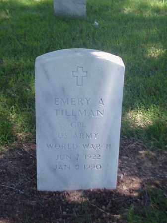 TILLMAN (VETERAN WWII), EMERY A - Pulaski County, Arkansas | EMERY A TILLMAN (VETERAN WWII) - Arkansas Gravestone Photos