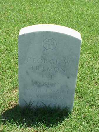 TILLMON (VETERAN WWI), GEORGE W - Pulaski County, Arkansas | GEORGE W TILLMON (VETERAN WWI) - Arkansas Gravestone Photos