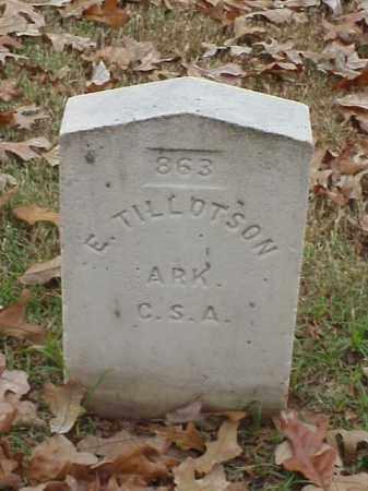 TILLOTSON (VETERAN CSA), E - Pulaski County, Arkansas | E TILLOTSON (VETERAN CSA) - Arkansas Gravestone Photos