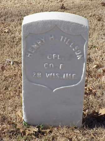 TILLSON (VETERAN UNION), HENRY H - Pulaski County, Arkansas | HENRY H TILLSON (VETERAN UNION) - Arkansas Gravestone Photos