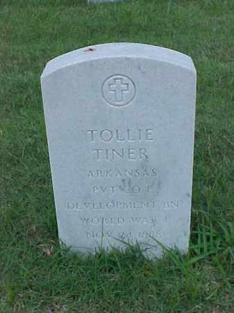 TINER (VETERAN WWI), TOLLIE - Pulaski County, Arkansas | TOLLIE TINER (VETERAN WWI) - Arkansas Gravestone Photos