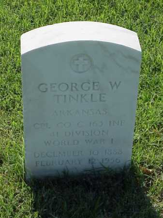 TINKLE (VETERAN WWI), GEORGE W - Pulaski County, Arkansas | GEORGE W TINKLE (VETERAN WWI) - Arkansas Gravestone Photos