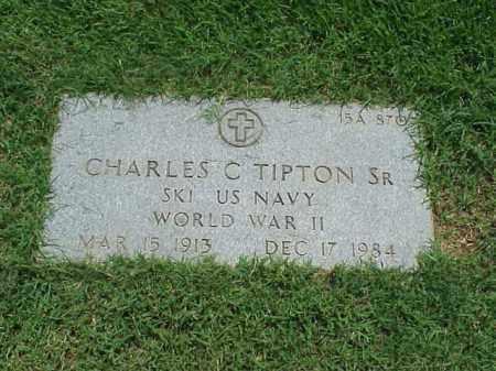 TIPTON, SR (VETERAN WWII), CHARLES C - Pulaski County, Arkansas | CHARLES C TIPTON, SR (VETERAN WWII) - Arkansas Gravestone Photos
