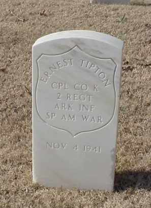 TIPTON (VETERAN SAW), ERNEST - Pulaski County, Arkansas | ERNEST TIPTON (VETERAN SAW) - Arkansas Gravestone Photos