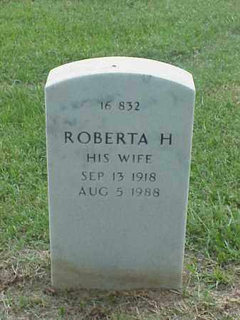 TOBEY, ROBERTA H - Pulaski County, Arkansas | ROBERTA H TOBEY - Arkansas Gravestone Photos