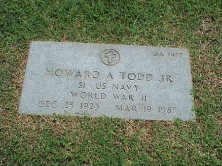 TODD, JR (VETERAN WWII), HOWARD A - Pulaski County, Arkansas | HOWARD A TODD, JR (VETERAN WWII) - Arkansas Gravestone Photos