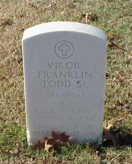 TODD, SR (VETERAN WWII), VIRGIL FRANKLIN - Pulaski County, Arkansas | VIRGIL FRANKLIN TODD, SR (VETERAN WWII) - Arkansas Gravestone Photos
