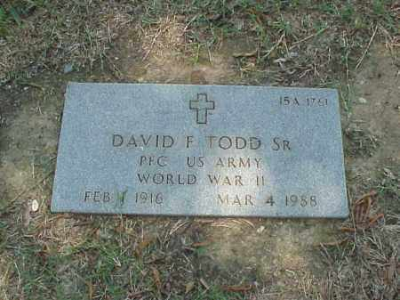 TODD, SR (VETERAN WWII), DAVID F - Pulaski County, Arkansas | DAVID F TODD, SR (VETERAN WWII) - Arkansas Gravestone Photos