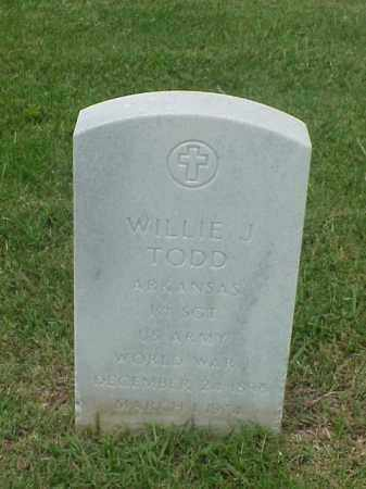 TODD (VETERAN WWI), WILLIE J - Pulaski County, Arkansas | WILLIE J TODD (VETERAN WWI) - Arkansas Gravestone Photos