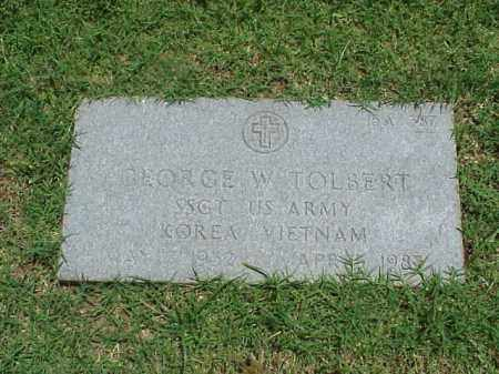 TOLBERT (VETERAN 2 WARS), GEORGE W - Pulaski County, Arkansas | GEORGE W TOLBERT (VETERAN 2 WARS) - Arkansas Gravestone Photos