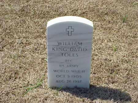 TOLES (VETERAN WWII), WILLIAM KING DAVID - Pulaski County, Arkansas | WILLIAM KING DAVID TOLES (VETERAN WWII) - Arkansas Gravestone Photos