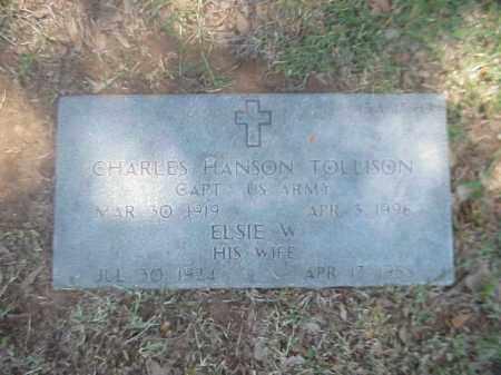 TOLLISON (VETERAN 2 WARS), CHARLES HANSON - Pulaski County, Arkansas | CHARLES HANSON TOLLISON (VETERAN 2 WARS) - Arkansas Gravestone Photos