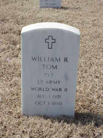 TOM (VETERAN WWII), WILLIAM R - Pulaski County, Arkansas | WILLIAM R TOM (VETERAN WWII) - Arkansas Gravestone Photos