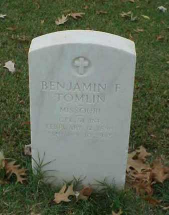 TOMLIN (VETERAN WWI), BENJAMIN F - Pulaski County, Arkansas | BENJAMIN F TOMLIN (VETERAN WWI) - Arkansas Gravestone Photos