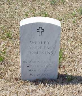 TOMPKINS (VETERAN WWII), WESLEY ANDREW - Pulaski County, Arkansas | WESLEY ANDREW TOMPKINS (VETERAN WWII) - Arkansas Gravestone Photos