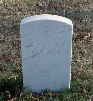 TONDEAU (VETERAN WWII), WILLIAM S - Pulaski County, Arkansas | WILLIAM S TONDEAU (VETERAN WWII) - Arkansas Gravestone Photos